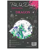 SO: Pink Ink Designs - Dragon - A5 Clear Stamp Set