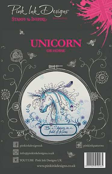 Pink Ink Designs - Unicorn - A5 Clear Stamp Set