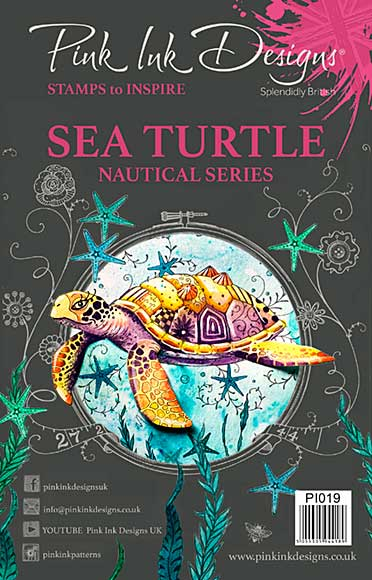 SO: Pink Ink Designs Clear Stamp Sea Turtle A5