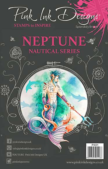 Pink Ink Designs A5 Clear Stamp Neptune