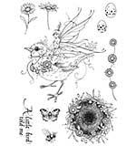 Pink Ink A5 Clear Stamp Bird Sprite