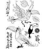 SO: Pink Ink A5 Clear Stamp Toucan