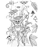 Pink Ink Designs Clear Stamp Woodbeard Hobgoblin 3 A5