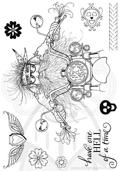 Pink Ink Designs Clear Stamp Mel\'s Angel A5