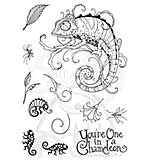 Pink Ink Designs Clear Stamp Chameleon A5