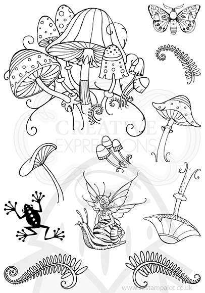 Pink Ink Designs Clear Stamp Fungi A5