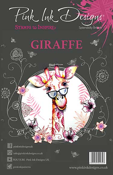 SO: Pink Ink Designs A5 Clear Stamp Set  Giraffe