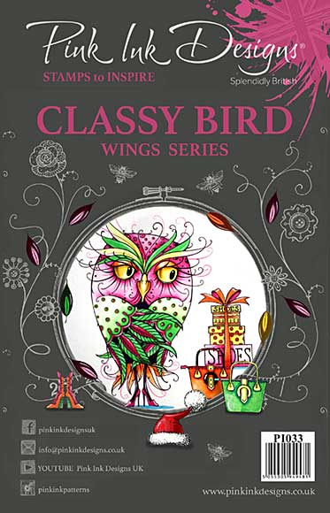 SO: Pink Ink Designs Clear Stamp Classy Bird