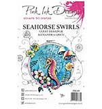 SO: Pink Ink Designs Clear Stamp - Seahorse Swirls