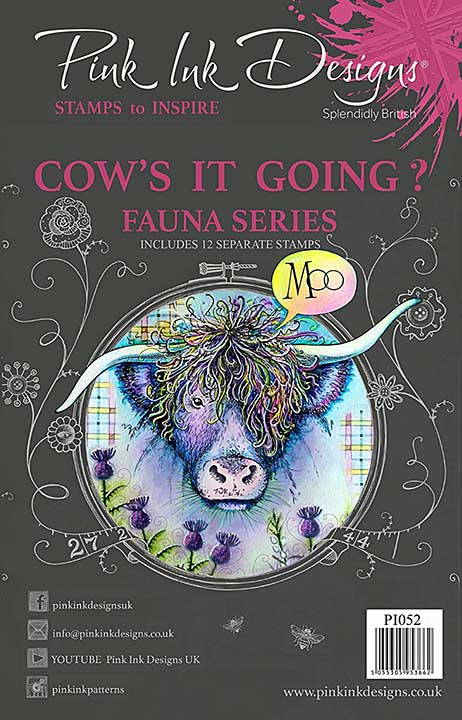 Pink Ink Designs - Cows It Going - A5 Clear Stamp Set