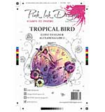 Pink Ink Designs Clear Stamp - Tropical Bird A5