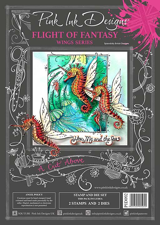Pink Ink Designs A Cut Above Flight Of Fantasy - Stamp & Die Set [PI2001]