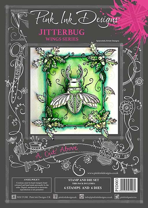 Pink Ink Designs A Cut Above Jitterbug - Stamp & Die Set [PI2001]
