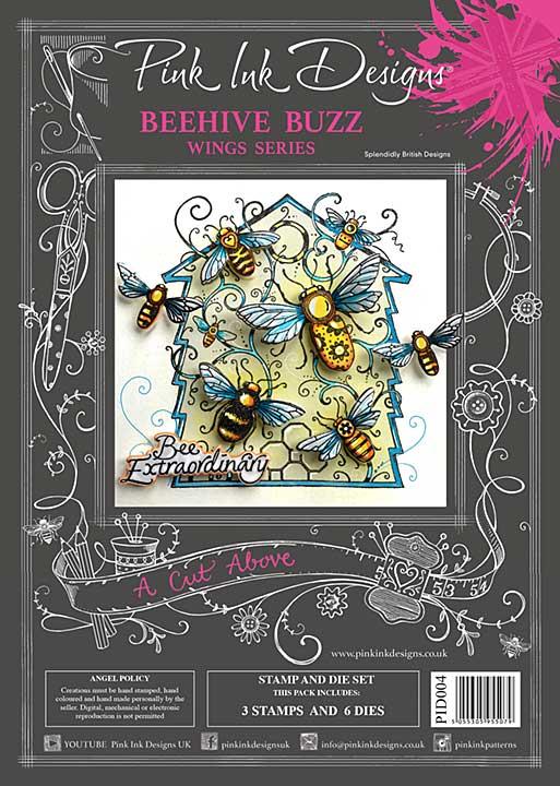 Pink Ink Designs A Cut Above Beehive Buzz - Stamp & Die Set [PI2001]