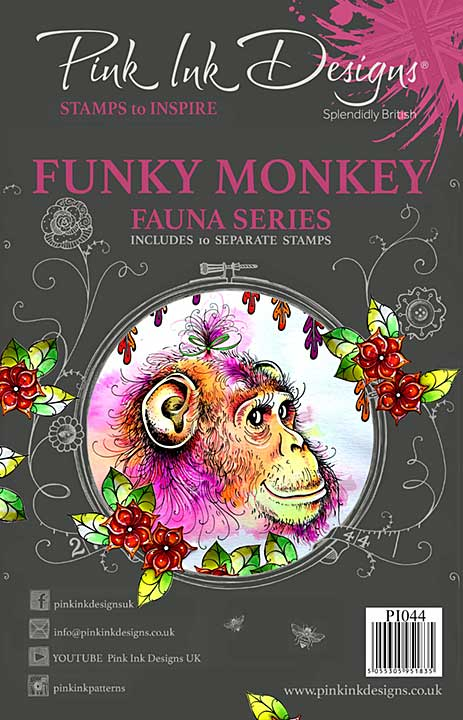 Pink Ink Designs Clear Stamp Funky Monkey A5