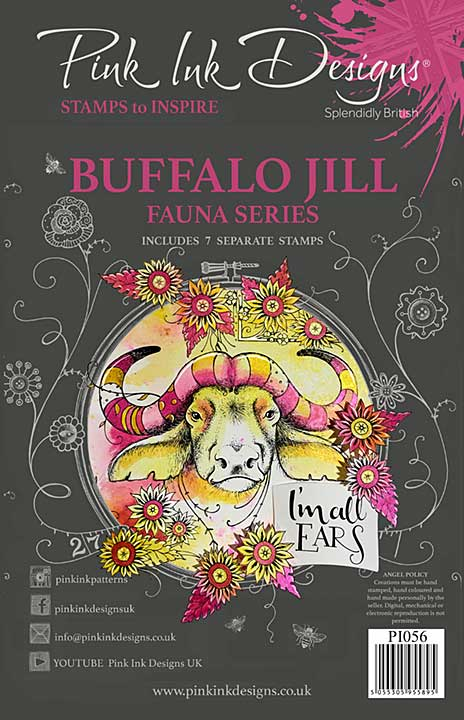 Pink Ink Designs Buffalo Jill A5 Clear Stamp