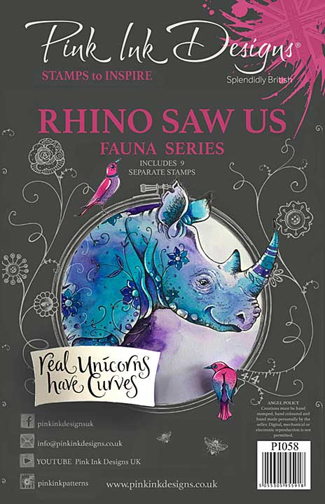 Pink Ink Designs Rhino Saw Us A5 Clear Stamp