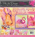 Pink Ink Designs Elephants and Flamingos 12 in x 12 in Paper Pad