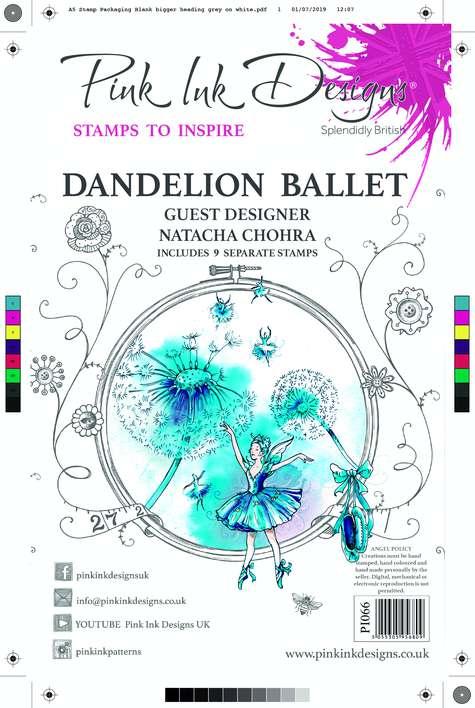 Pink Ink Designs Dandelion Ballet A5 Clear Stamp