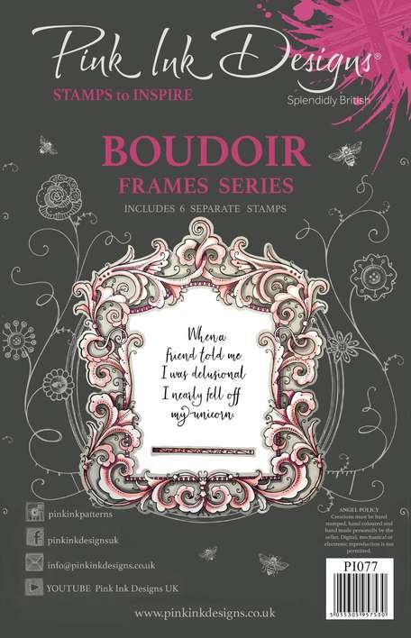 Pink Ink Designs Boudoir A5 Clear Stamp Set
