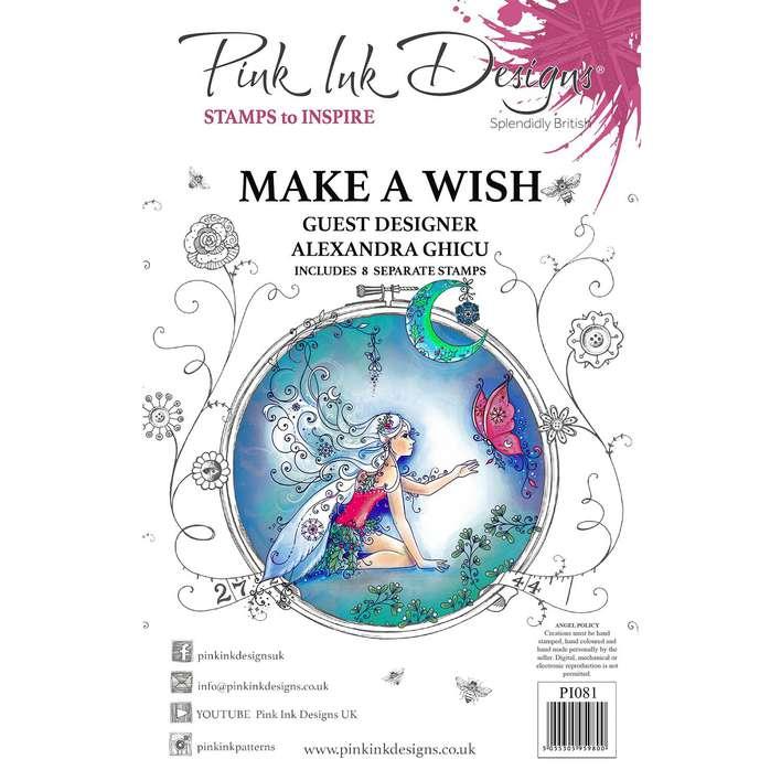 Pink Ink Designs Make A Wish A5 Clear Stamp Set