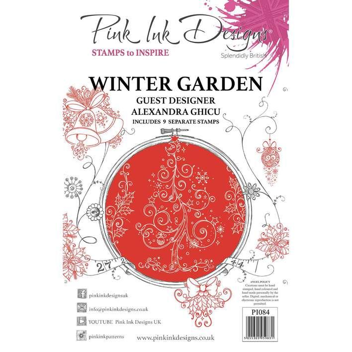 Pink Ink Designs Winter Garden  A5 Clear Stamp Set
