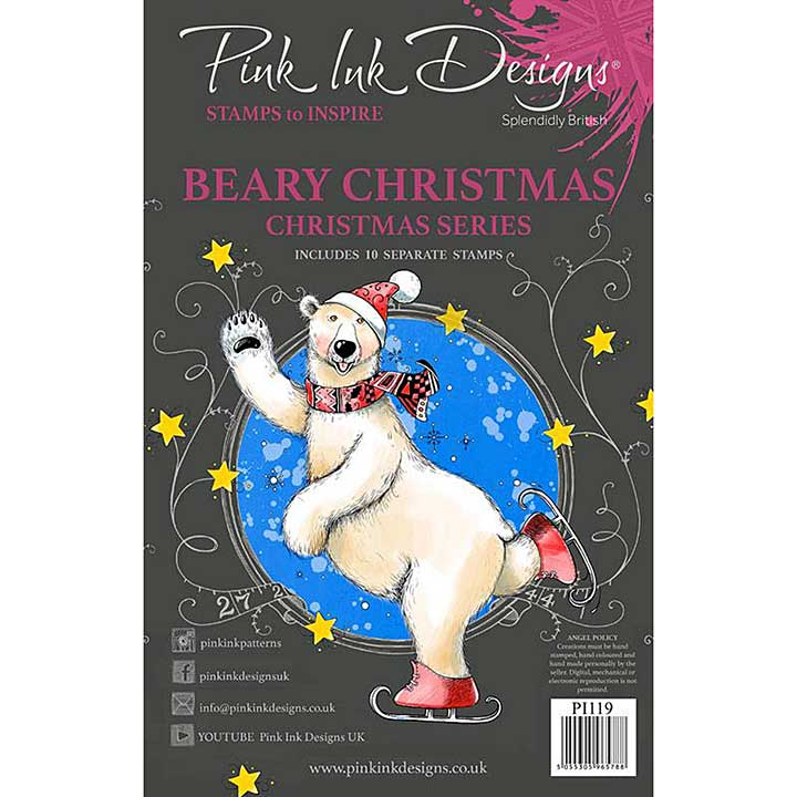 Pink Ink Designs Beary Christmas A5 Clear Stamp (3006)