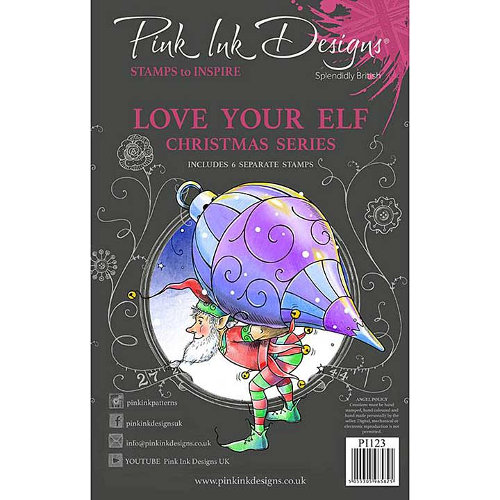 Pink Ink Designs Love Your Elf A5 Clear Stamp (3006)