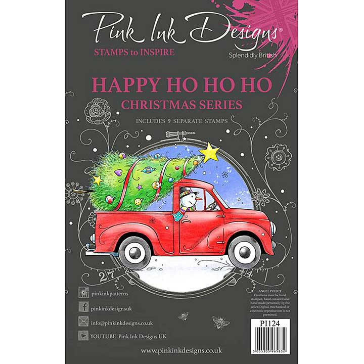 Pink Ink Designs Happy Ho Ho Ho A5 Clear Stamp (3006)