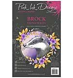 Pink Ink Designs Woodland Animals - Brock Clear Stamp Set  (A5)