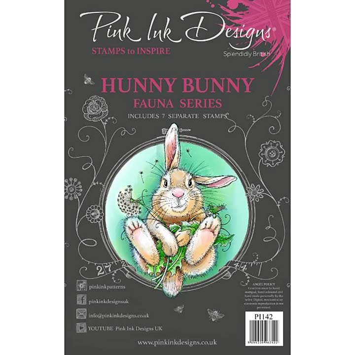 Pink Ink Designs Woodland Animals - Hunny Bunny Clear Stamp Set  (A5)