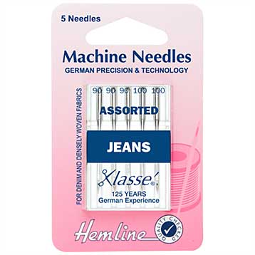 SO: Hemline Sewing Machine Needles - Jeans Heavy Assorted (5pk)