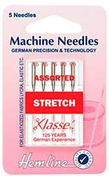 Hemline Sewing Machine Needles - Stretch (Mixed, 5 Needles)