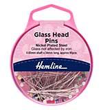 Hemline Pins Glass Head 34mm (Nickel 95 Pieces)