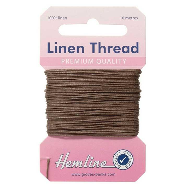 Hemline 100% Linen Thread - Khaki