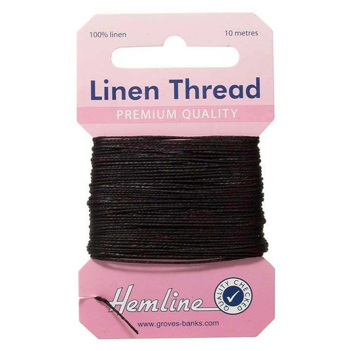 Hemline 100% Linen Thread - Black