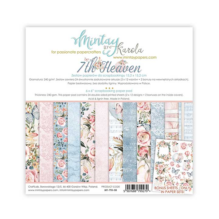 Mintay Papers - 7th Heaven 6 x 6 Paper Pad