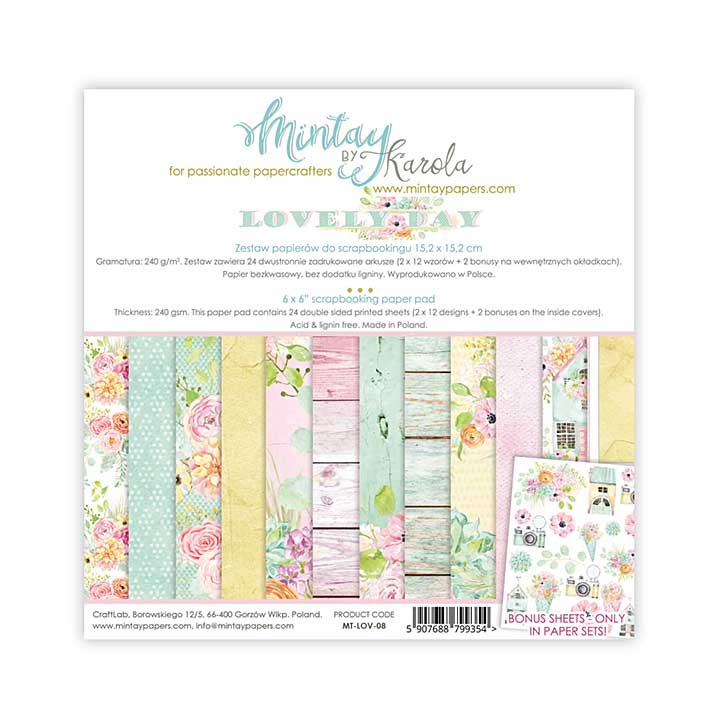Mintay Papers - Lovely Day 6 x 6 Paper Pad