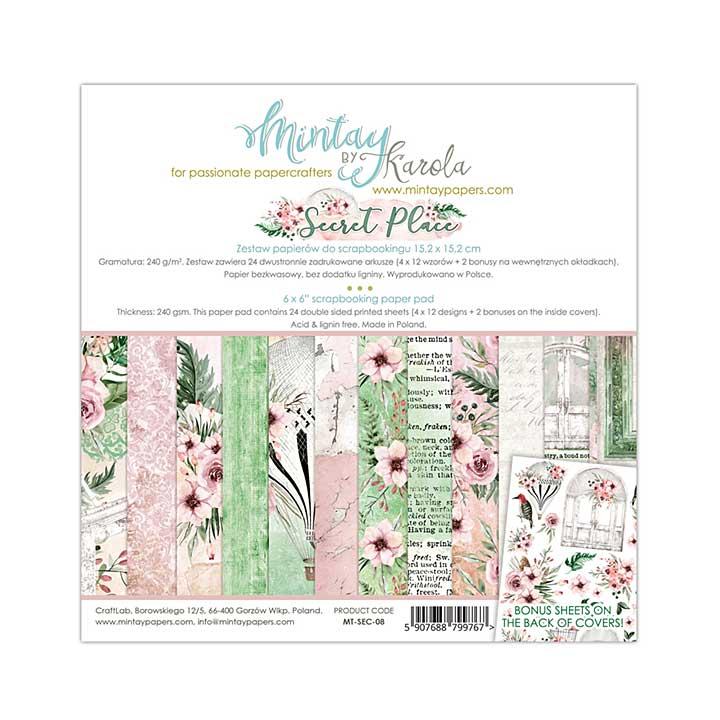 Mintay Papers - Secret Place 6 x 6  Paper Pad