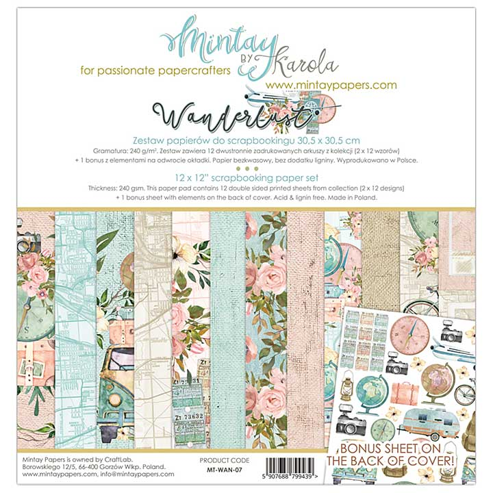 Mintay Papers - Wanderlust 12 x 12 Paper Set