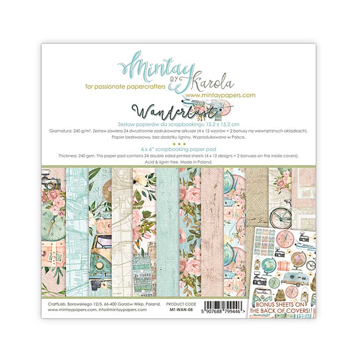 Mintay Papers - Wanderlust 6 x 6 Paper Pad