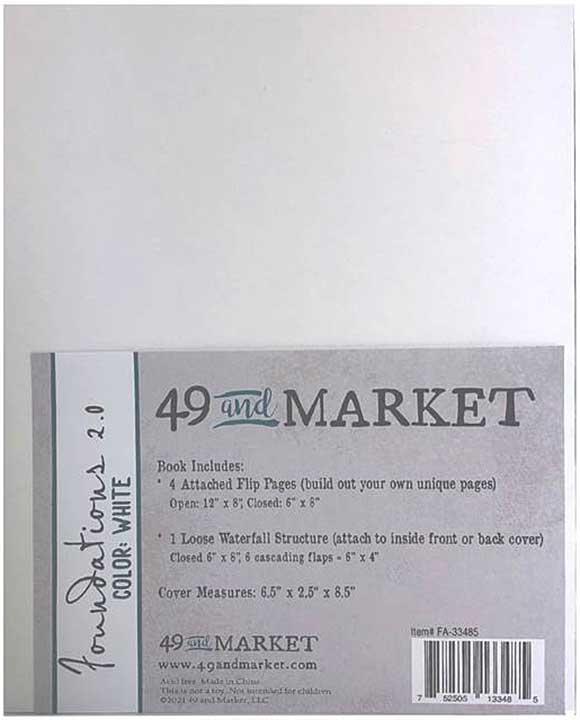 "49 And Market Foundations Album 6\""X8\"" - White"
