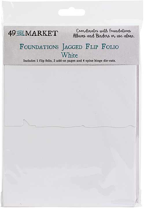 49 And Market Foundations Jagged Flip Folio - White