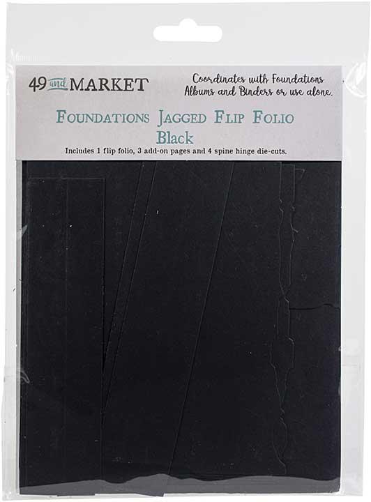 49 And Market Foundations Jagged Flip Folio - Black