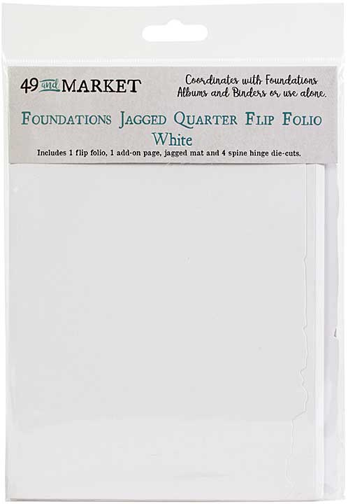 49 And Market Foundations Jagged Quarter Flip Folio - White