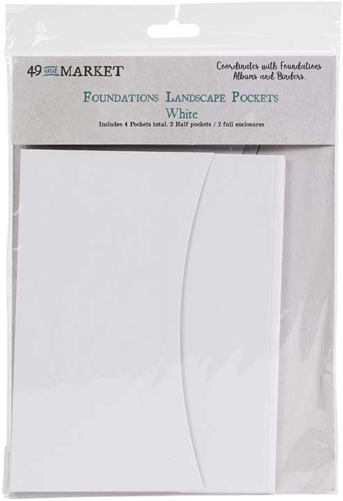 49 And Market Foundations Landscape Pockets - White