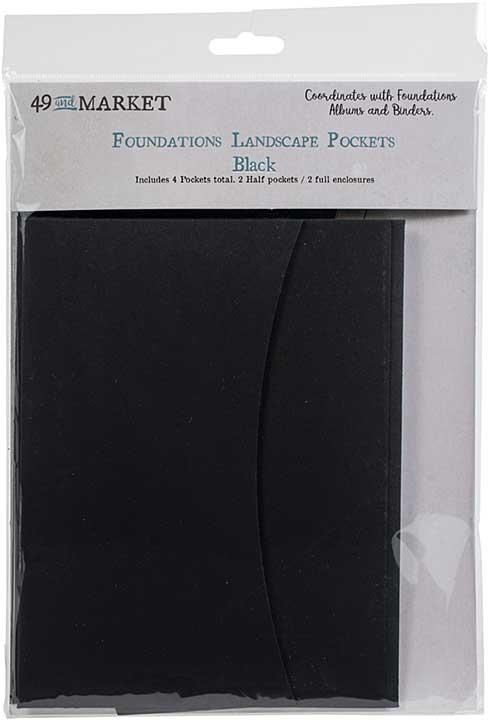 49 And Market Foundations Landscape Pockets - Black