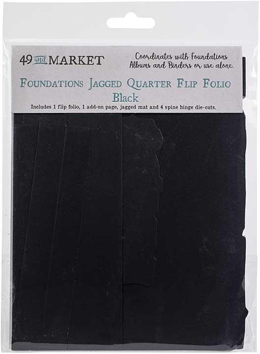 49 And Market Foundations Jagged Quarter Flip Folio - Black