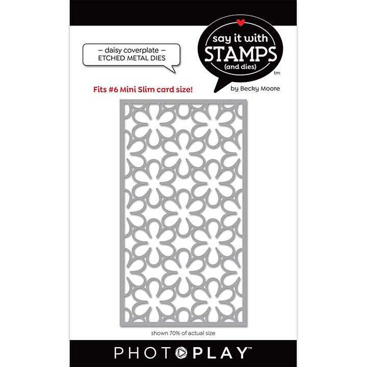 PhotoPlay Say It With Stamps Die - #6 Daisy Coverplate