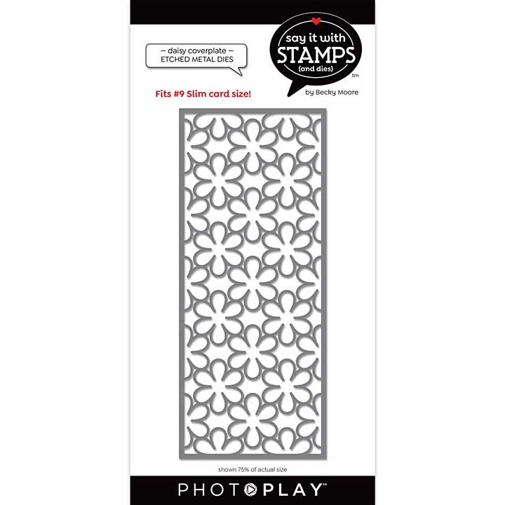 PhotoPlay Say It With Stamps Die - #9 Daisy Coverplate